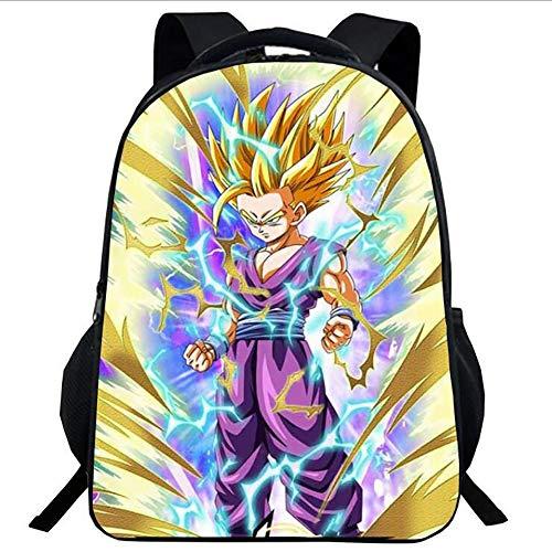 YLG Printing Student Backpack Packsack School Bag Dragon Ball Z Anime Goku Backpack,D