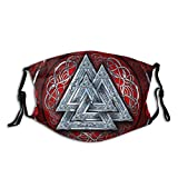 Norse Blanket Runic Viking Outdoor Mask,Protective 5-Layer Activated Carbon Filters Adult Men Women Bandana