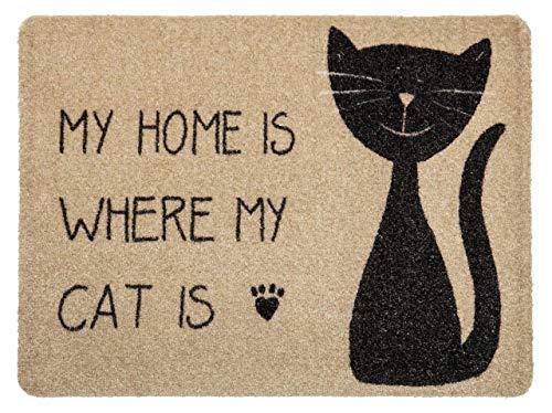 Pana antislip deurmat, deurmat, voor binnen en entree, hoge vuilopname, onderhoudsvriendelijk, made in Austria 50 x 70 cm My Home Cat