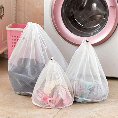 Finer 1Pcs Wassen Waszak Kledingverzorging Opvouwbaar Beschermnet Filter Wasgoed Ondergoed Beha Sokken Ondergoed Wassen Kledingzak, S