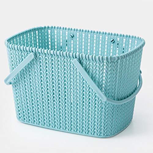 Boîtes De Rangement Panier de Bain Portable Panier Articles de Toilette Baignoire Baignoire Bleu de la Salle de Bains (Color : Blue)
