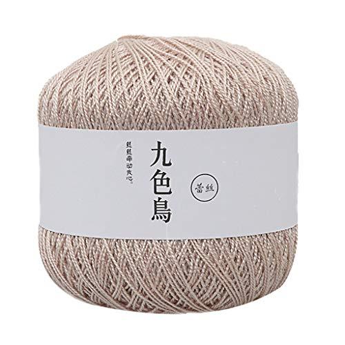 Janly Clearance Sale Lana de punto, hilo de encaje DIY tejido de algodón fino hilo de ganchillo 8ª, algodón, hogar DIY Crochet Textiles para matar tiempo y pasatiempos (U)