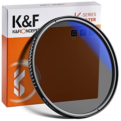 K&F Concept Pro 77mm Slim Zirkularer Polfilter Polarisationsfilter CPL Filter Cirkular Polfilter Optisches Glas & Aluminium für Foto-Kameraobjektive
