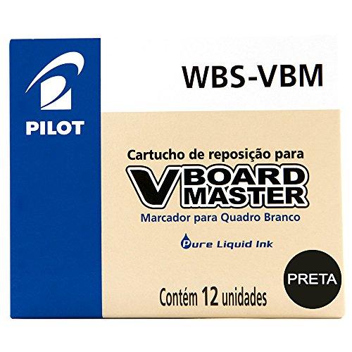 Recambio rotulador Pilot Vboard Master color negro (12 unidades)
