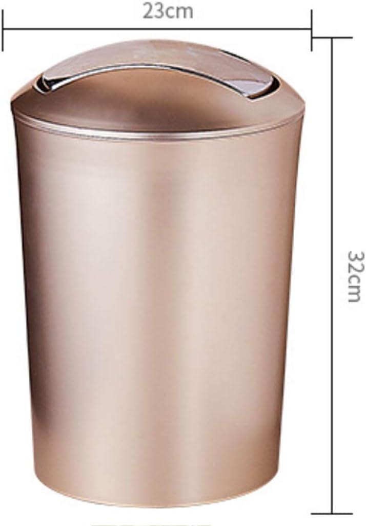 32 x 23 x 23cm B/üro Mecotech 10L Papierkorb Abfalleimer M/ülleimer mit Deckel f/ür Bad K/üche Papierk/örbe Gold
