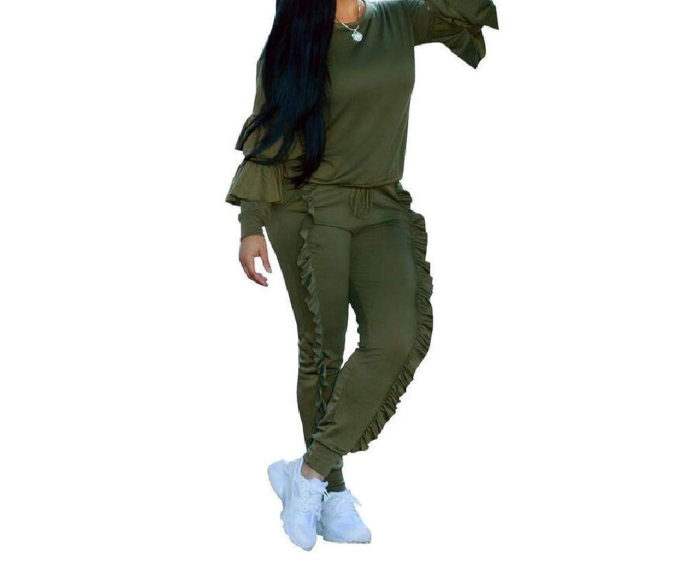 湿気の多い運河バッチ女性ソリッドステッチポケットプラスサイズスポーツスウェットスーツトラックスーツ