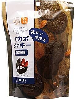 デルタ 低糖質 ロカボクッキー 味わいカカオ 10枚【5個セット】