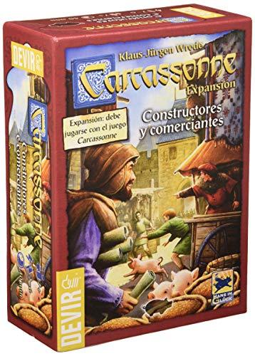 Devir - Carcassonne Constructores y Comerciantes, juego de mesa, 2015 (BGCOMER)