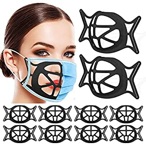 Silicone 3D Face Mask Bracket,Upgrade Face Mask Inner Support Frame,Mask Bracket Internal Support Frame for Lipstick Keep Fabric off Mouth 10 Pack from KDRose