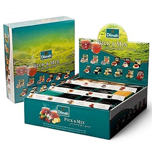 DEU Dilmah Pick & Mix Sortiment an Tee und Kräutertees - 1 x 240 Teebeutel (430 Gramm)