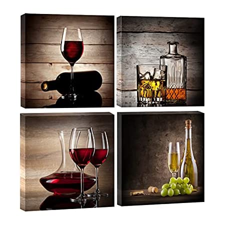 30*60cm Painting Cafes Hotels Gift Wall Fruits Red Wine 3pcs Modern Home