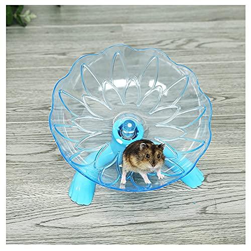 Semaxy ハムスター 回し車 小動物用 ハウス サイレントホイールフライングソーサー さらに静か 理想的な遊び場 ホイール ランニング ペット用品 小動物玩具 スタンド付き 青