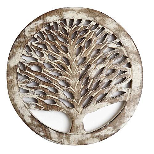 WILLART Houten Theepot Trivet | Theepot Coaster | voor Hot Pots, Pans, Gerechten | Keuken, Tafeldecor, Accessoire (Set van 2 Coasters)