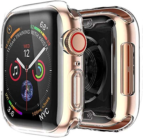 [2 pack] Funda Apple Watch 40mm Series 4/Series 5, Protector Pantalla iWatch 4 case Protección Completo Anti-Rasguños Ultra Transparente Funda Suave TPU, para Nueva Apple Watch Series 4/Series 5 40mm