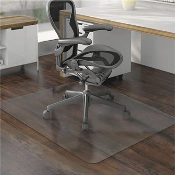 36 X 48 Hard Floor Home Office PVC Floor Mat Square For Office Rolling Chair