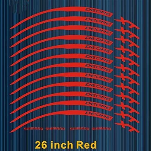12pics / set Rueda de la rueda Bicicleta de montaña 26 27.5 29er pulgada de la rueda de la rueda de la rueda pegatinas decorativas de las calcomanías de bicicleta MTB Etiqueta engomada de la rueda