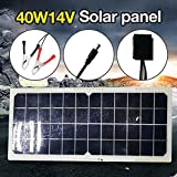 LAMP-XUE Panel Solar Plegable 40W 14V pequeña batería Solar de silicio monocristalino Paneles Solares Sets Kits Flexible Impermeable al Aire Libre del Panel Solar Componentes