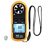 Zr Portable Wind Speed Meter Gauge Handhled Anemometer with LCD Backlight, Air Flow Velocity Temperature Wind Meter Anemometer Thermometer for Kite Drone Flying, Windsurfing, Surfing, Meteorology