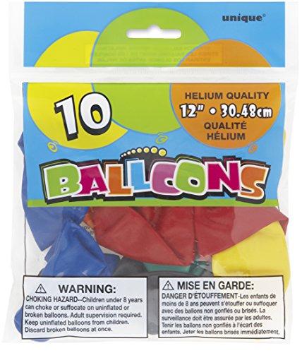 "Price comparison product image Unique 12"" Latex Balloons"