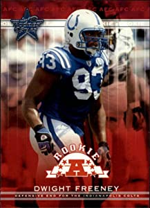 2002 Leaf Rookies and Stars Football Rookie Card #253 Dwight Freeney
