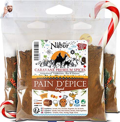 Nabür - Miscela di Spezie per Pan Speziato ⭐ 200 Gr - MIX DELLO CHEF ⭐ Gourmet, Profumi Ricchi, Autentici e Potenti ⭐ Pan di zenzero PREMIUM⭐ Borsa richiudibile
