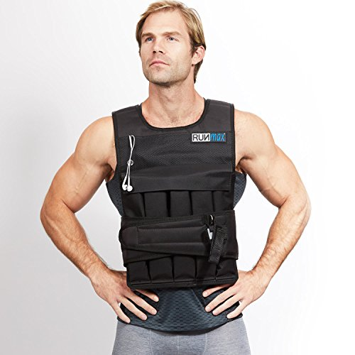 RUNFast RUNmax 12Lbs-140Lbs Weighted Vest with Shoulder Pads, 60 lb