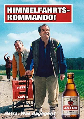 ASTRA Bier Werbung/Reklame Plakat DIN A1 59,4 x 84,1cm Himmelfahrtskommando, kultiges Poster aus St. Pauli