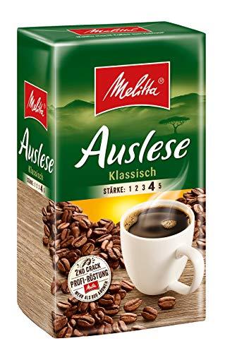 Melitta Gemahlener Röstkaffee, Filterkaffee Auslese Klassisch, Stärke 4, 500g