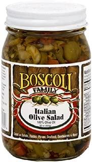 Boscoli Family Italian Olive Salad, 16 OZ (Pack of 6)