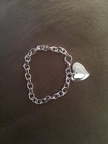 SeaISee 925 Sterling Silver Fashion Bracelet/bangle Jewelry Trendy Women Double Heart Charm Bracelets