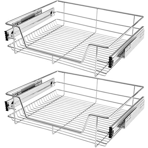 TecTake 800306 Cajón Telescópico Cajón de Cocina - Varias Tamaños y Cantidades- (2X para 60 cm | No. 403442)