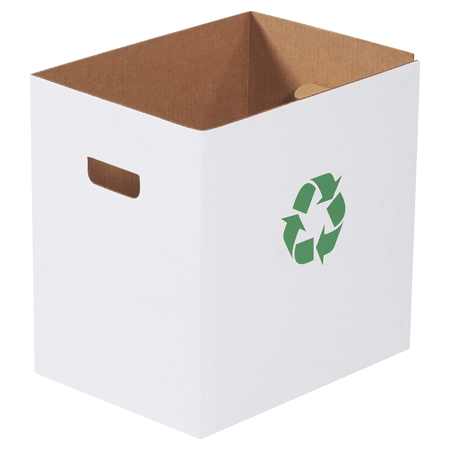 Corrugated Trash Cans with Recycle Logo 15
