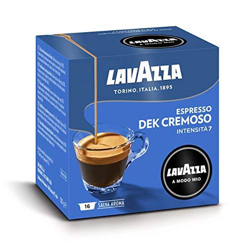 Lavazza A Modo Mio Capsule Caffè Espresso Dek Cremoso - Confezione da 256 Capsule, Intensità 7 (Mediamente intenso)