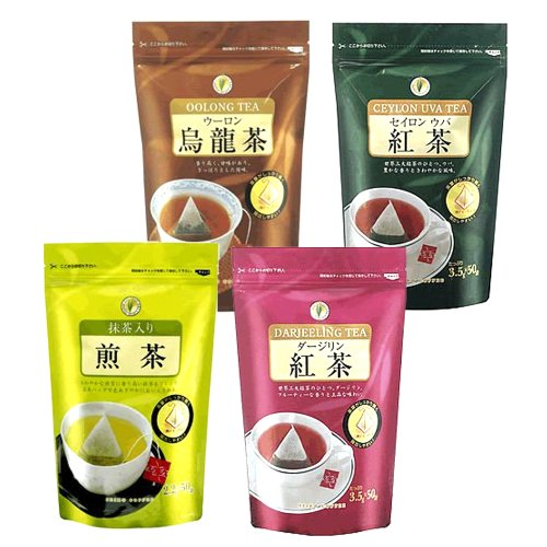 CAFE工房(カフェ工房)【福袋】三角ティーバッグ福袋(ウバ紅茶・ダージリン・ウーロン茶・抹茶入り煎茶)