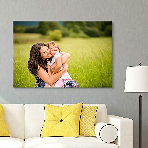 """wall26 Custom Canvas Wall Art, Personalized Photo to Canvas - 24""""x36"""""""
