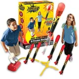 Stomp Rocket The Original X-Treme Rocket Launcher, 6 Rockets and Air Rocket Launcher - Outdoor Rocket STEM Gift for Boys and Girls Ages 9 Years and Up - Great for Year Round Play