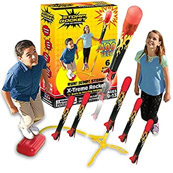 Stomp Rocket The Original X-Treme Rocket Launcher 6 Rockets and Air Rocket Launcher - Outdoor Rocket STEM Gift for Boys and Girls Ages 9 Years and Up - Great for Year Round Play