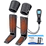Leg Massager for Circulation,Air Compression for Foot Calf Thigh Massage and Muscle Pain Relief, Sequential Boots Device with Digital Controller Heat Function, Gifts for Father and Mother to Relax