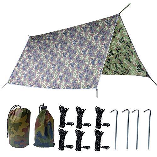WJQ Camping Tarpaulin - Outdoor Camouflage Canopy, Lichtgewicht Waterdicht Veilig Snel en Handig - Ideaal voor Outdoor Wandelen Park Binnenplaats / 300 * 300cm