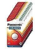 Panasonic CR2025 Lithium Knopfzelle, 3V, 12 Packungen (12