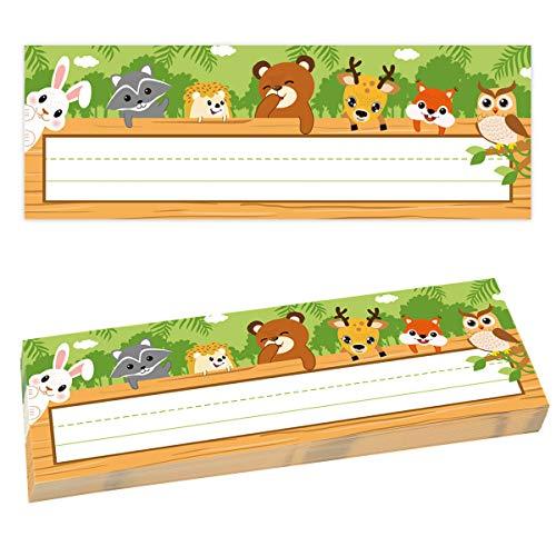 Jungle Animals Nameplates 36pcs Woodland Name Plates for Classroom School Supply