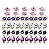SUPVOX - 50 unidades de conectores para pulseras de ojos y colgantes para joyas, bricolaje, collares, pulseras, creación de resultados de joyas