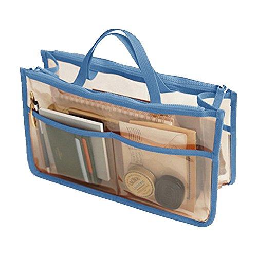 THEE Wasserdicht Kulturbeutel Transparente Kosemtiktasche Badezimmer Organizer Frauen Handtasche,Blau