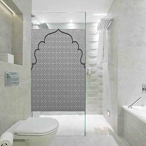 Adhesivo decorativo para ventana de baño con un grupo de T tradicional, película de vidrio estático para baño, oficina, sala de reuniones, sala de estar, 23.6 x 35.4 pulgadas