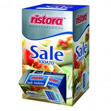 Paquete de 500 sobres de sal yodada monodosis de 1 g