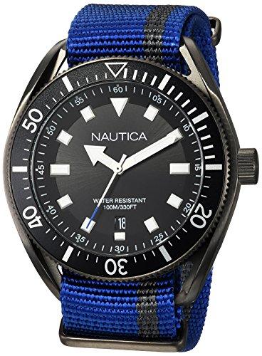 Nautica Reloj Analógico para Hombre de Cuarzo con Correa en Tela NAPPRF002
