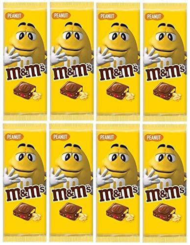8 Tafeln M&M´s Tafelschokolade Peanut ( 8x 150g) Milchschokolade mit M&M´s minis
