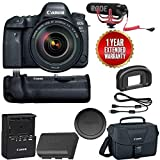 Canon EOS 6D Mark II Wi-Fi Digital SLR Camera with 24-105mm f/4L II Lens + BG-E21 Battery Grip + Rode VMGO + Canon 100ES Bag + Warranty