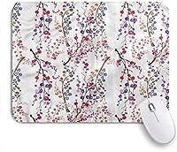 NIESIKKLAマウスパッド カラフルな水彩花の枝の花 ゲーミング オフィス最適 高級感 おしゃれ 防水 耐久性が良い 滑り止めゴム底 ゲーミングなど適用 用ノートブックコンピュータマウスマット