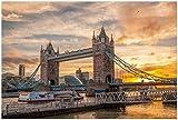 Wallario Poster - Tower Bridge - London bei Sonnenuntergang